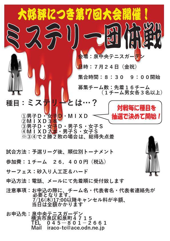 第6回  - 2020年7月24日(金・祝)ミステリー団体戦